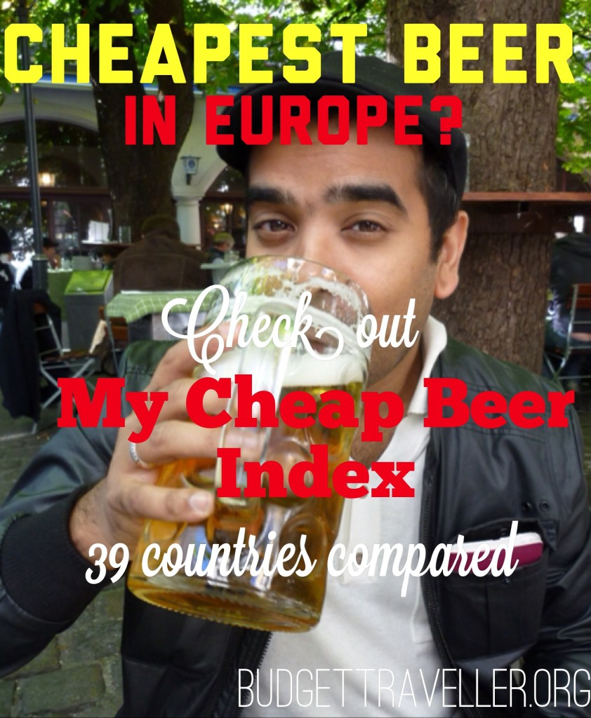 Cheapest beer in Europe ? Check my Europe Cheap Beer Index