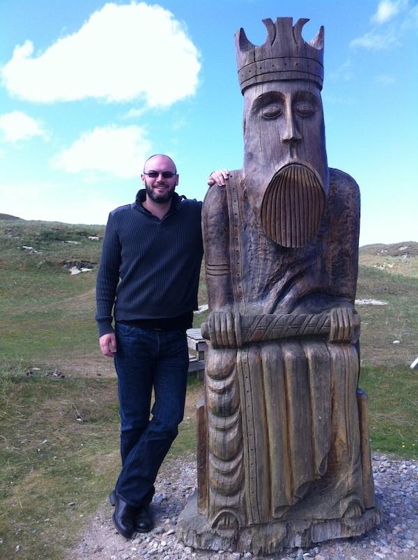 Meeting a Giant Lewis Chessman