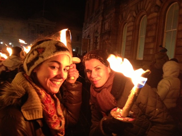 Flamin hot!: Flora and Kirsten at the Torchlight