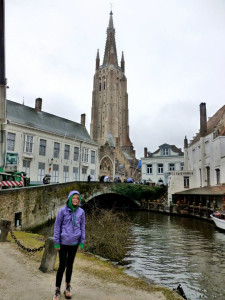 Enjoying the view in Bruges