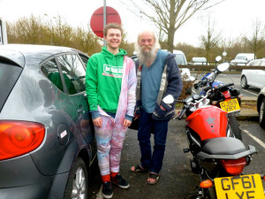 Picked up by the grandaddy of hitchhiking himself!