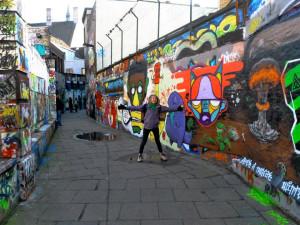 Graffiti alleyway in Gent, Belgium