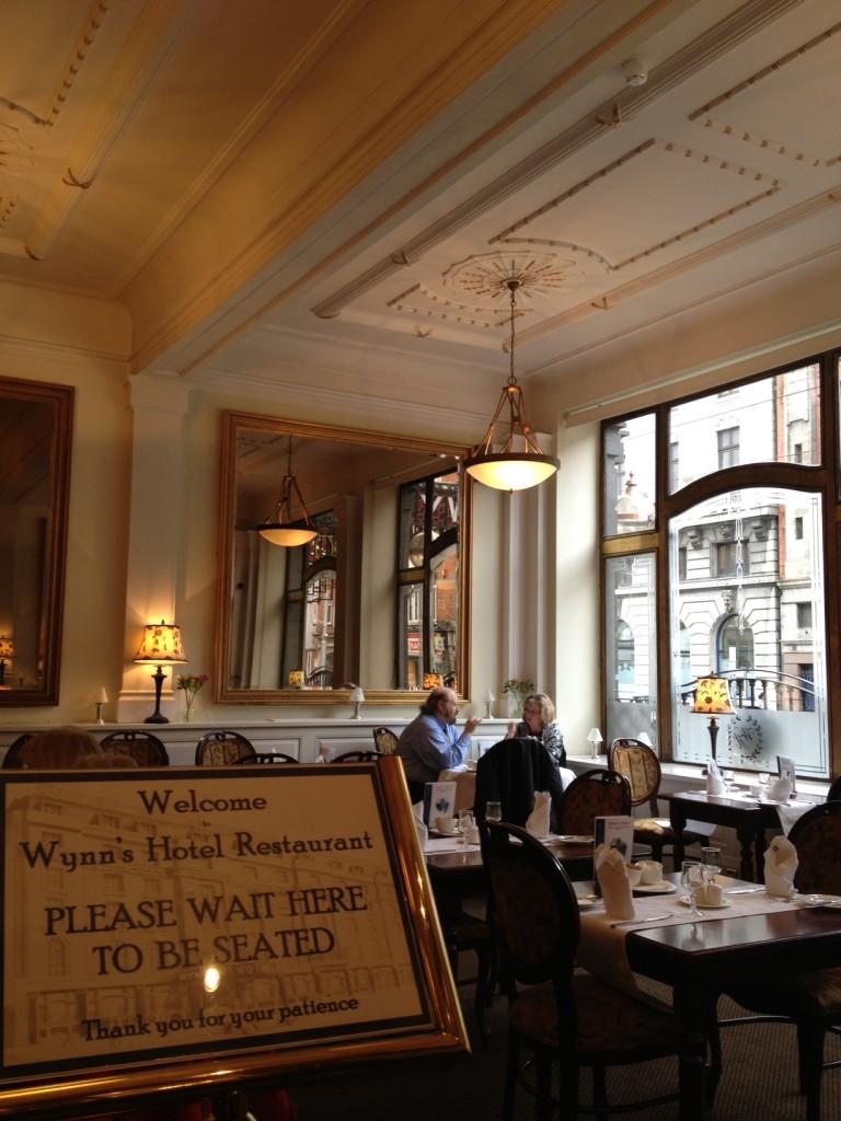 Dining room. Wynns Hotel, Dublin