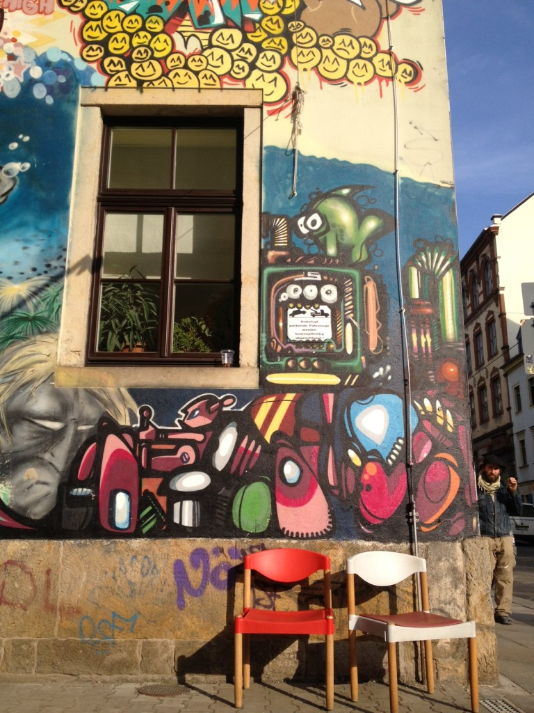 Cool street art in this hub of town