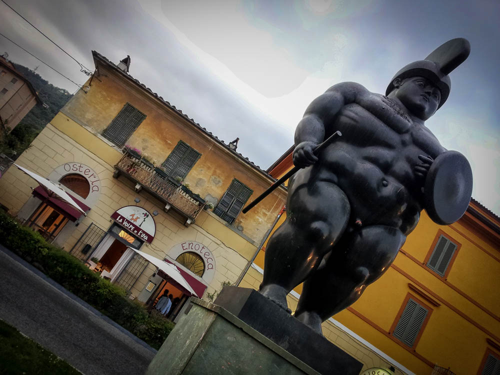 Botero sculpture displayed in Pietrasanta