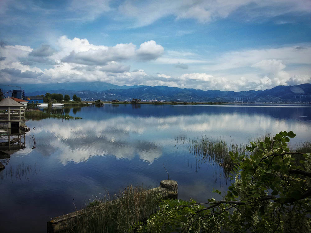 View over the lake near Torre del Lago
