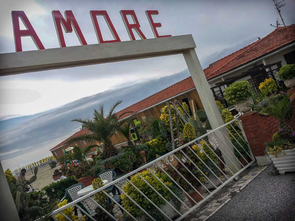 Viareggio seafront beach club Amore
