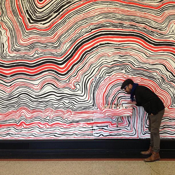 Hundertwasser's attempt of the 'The line of Hamburg'
