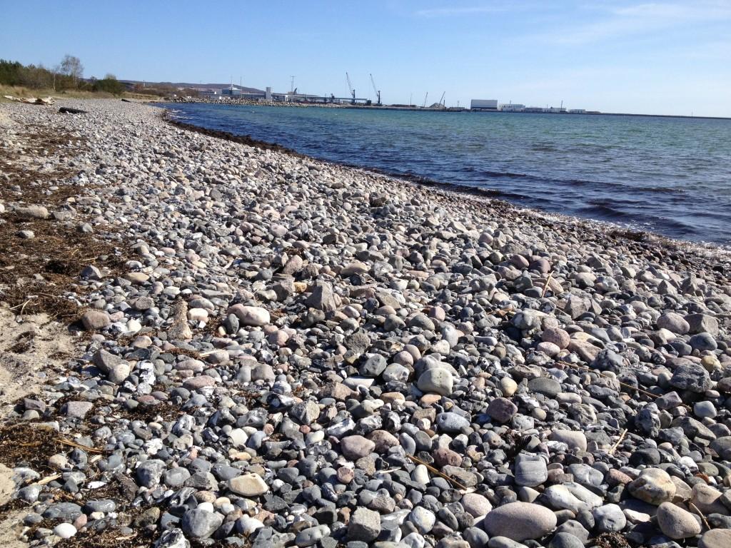 Beach with flint, Mukran