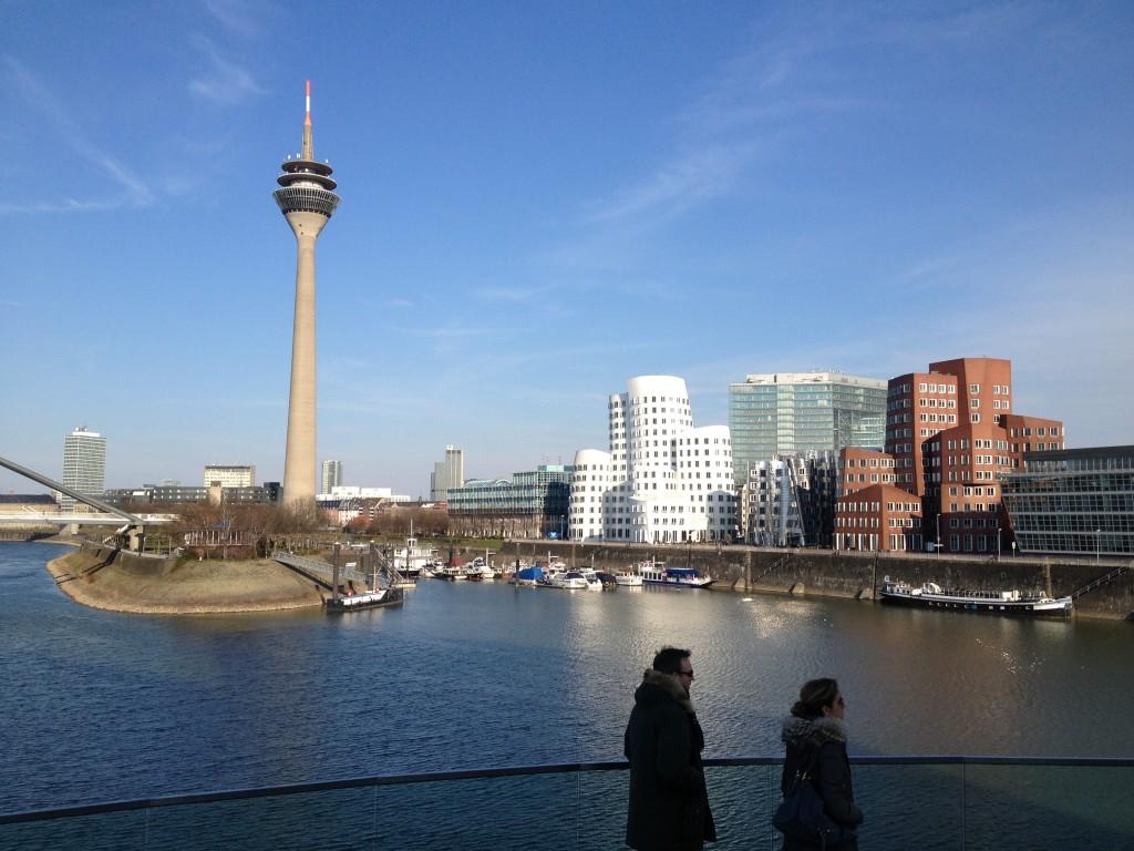Dusseldorf's Mediahafen skyline