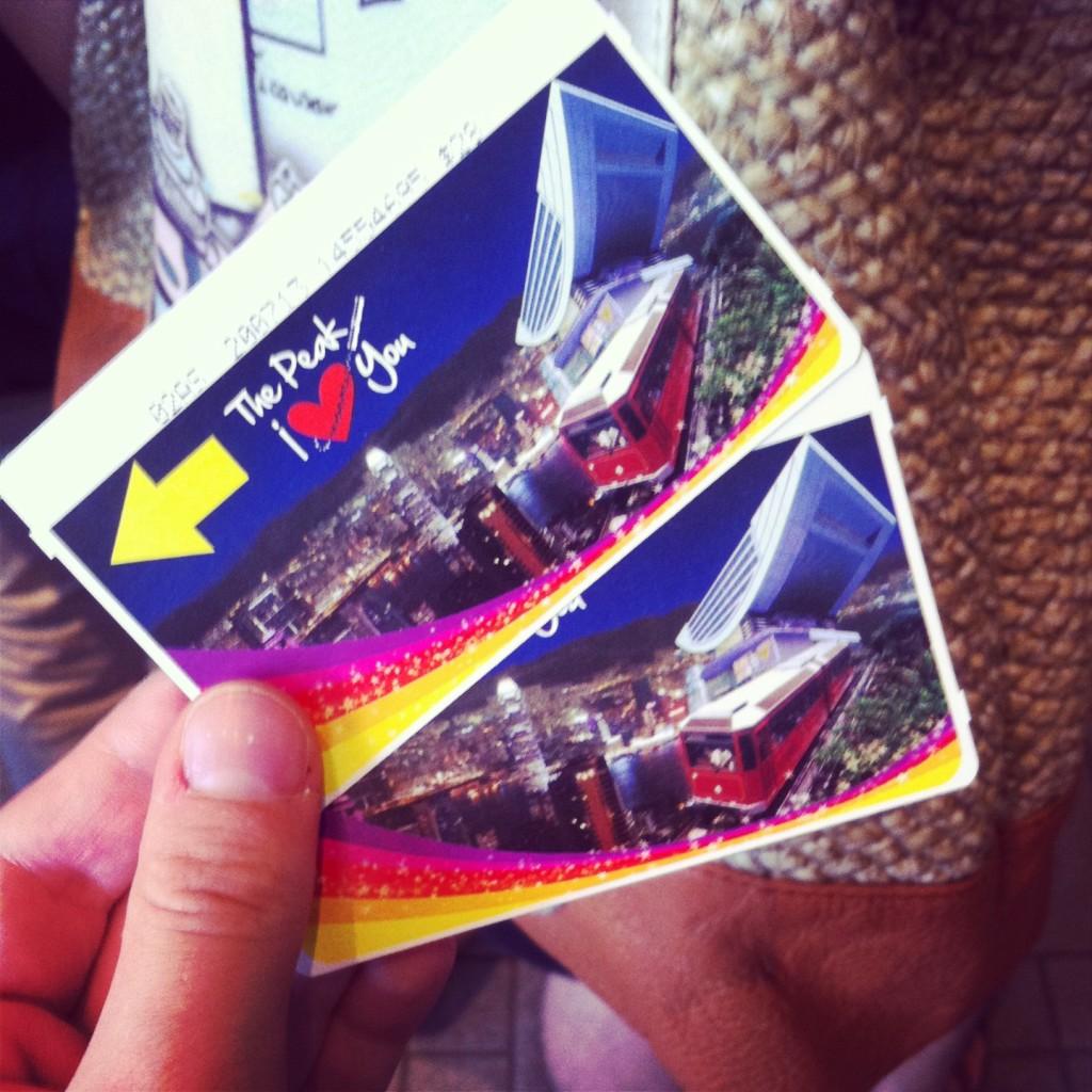 Take the tram to Victoria Peak...