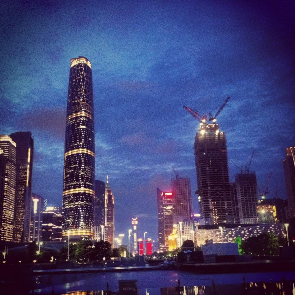 The impressive skyline of Guangzhou
