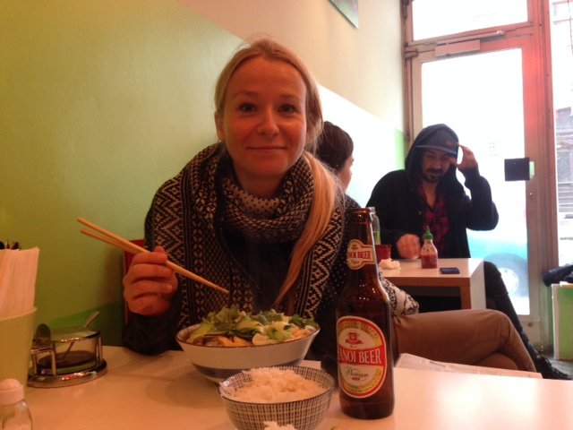 Local muncher and avid foodie, Julia Pawelczyk dining at one of her favourite cheap eats in Munich: Jai Ma