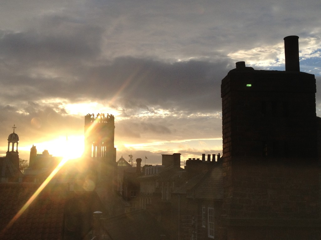 Stunning York sunset, viewed from my bedroom.