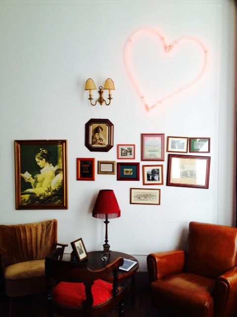 Another shot of the perfect hostel lounge. Home Hostel, Lisbon