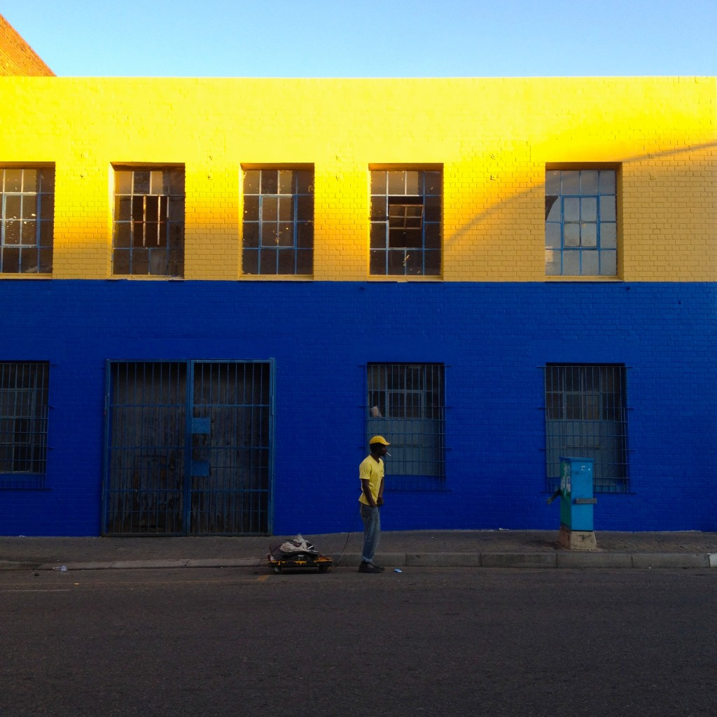 Yellow, black and blue