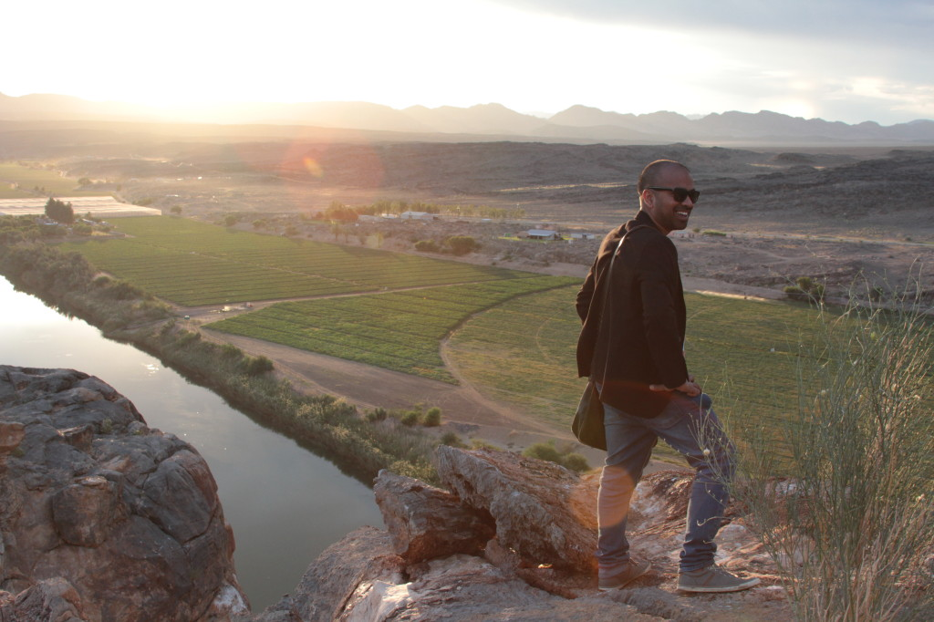 Geelkrans. Enjoying sunset over the Orange River and reflecting on an amazing day.