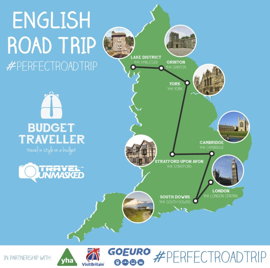 The #perfectroadtrip across England!