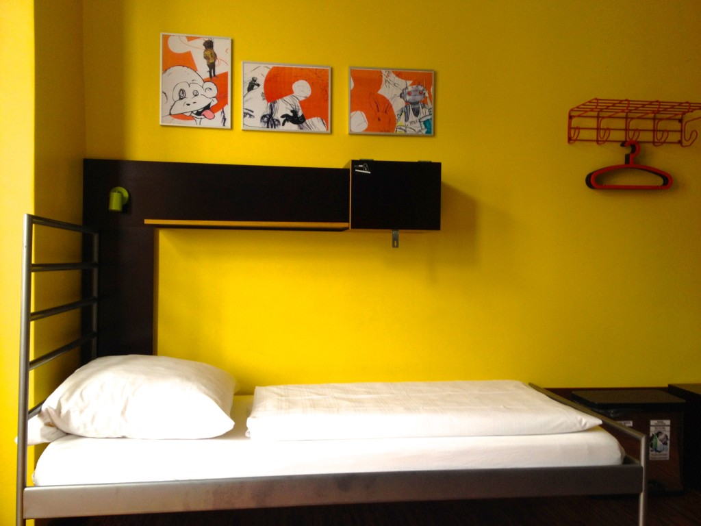 Dorms at Circus Hostel-come equipped with private reading light and plug points.