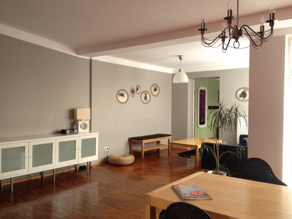 Lounge of the rooftop apartment, Circus Hostel. Berlin