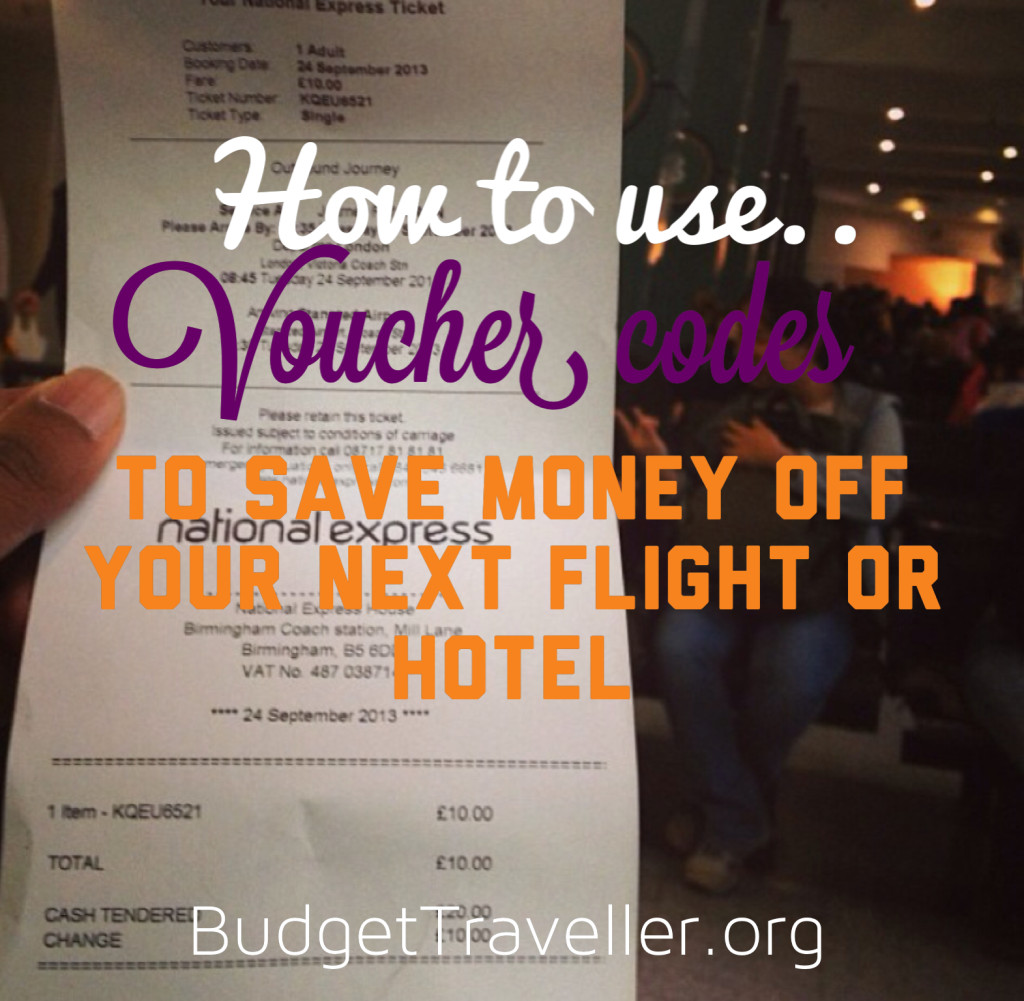 voucher codes save money flights hotels