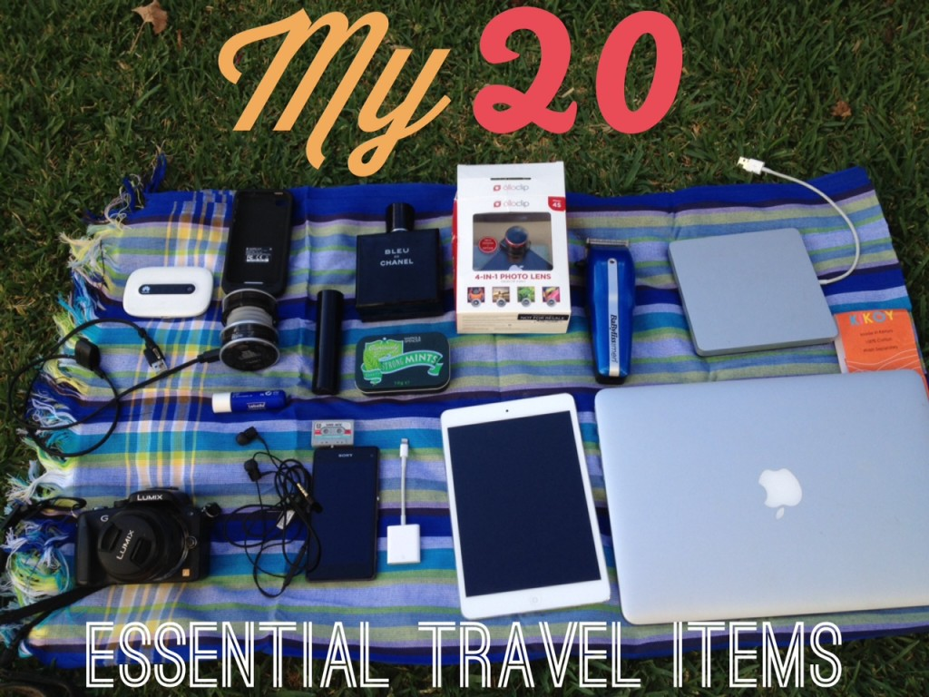 My 20 essential travel items