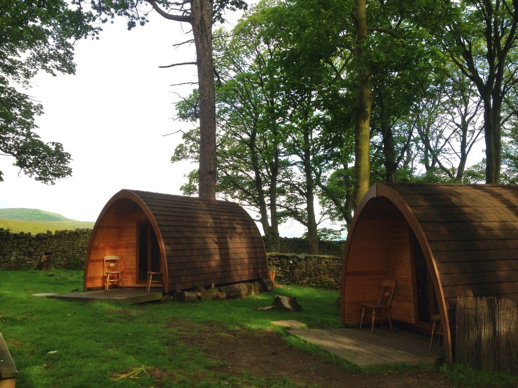 Luxury camping pods at YHA Grinton