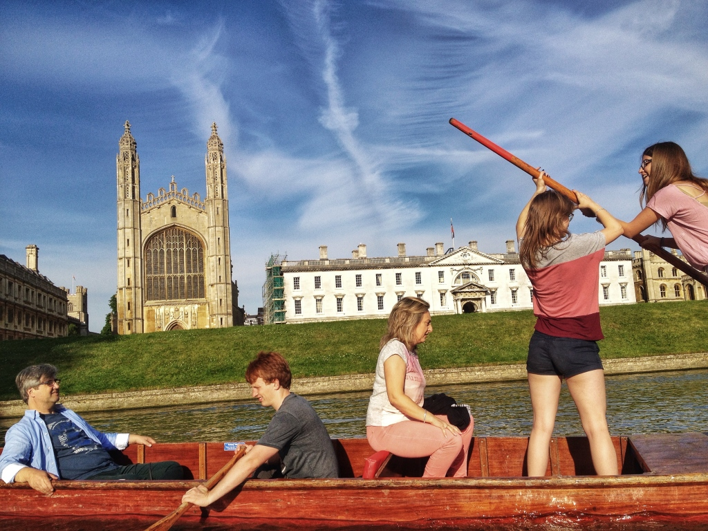 One of life's great experiences- Punting along the Backs in Cambridge