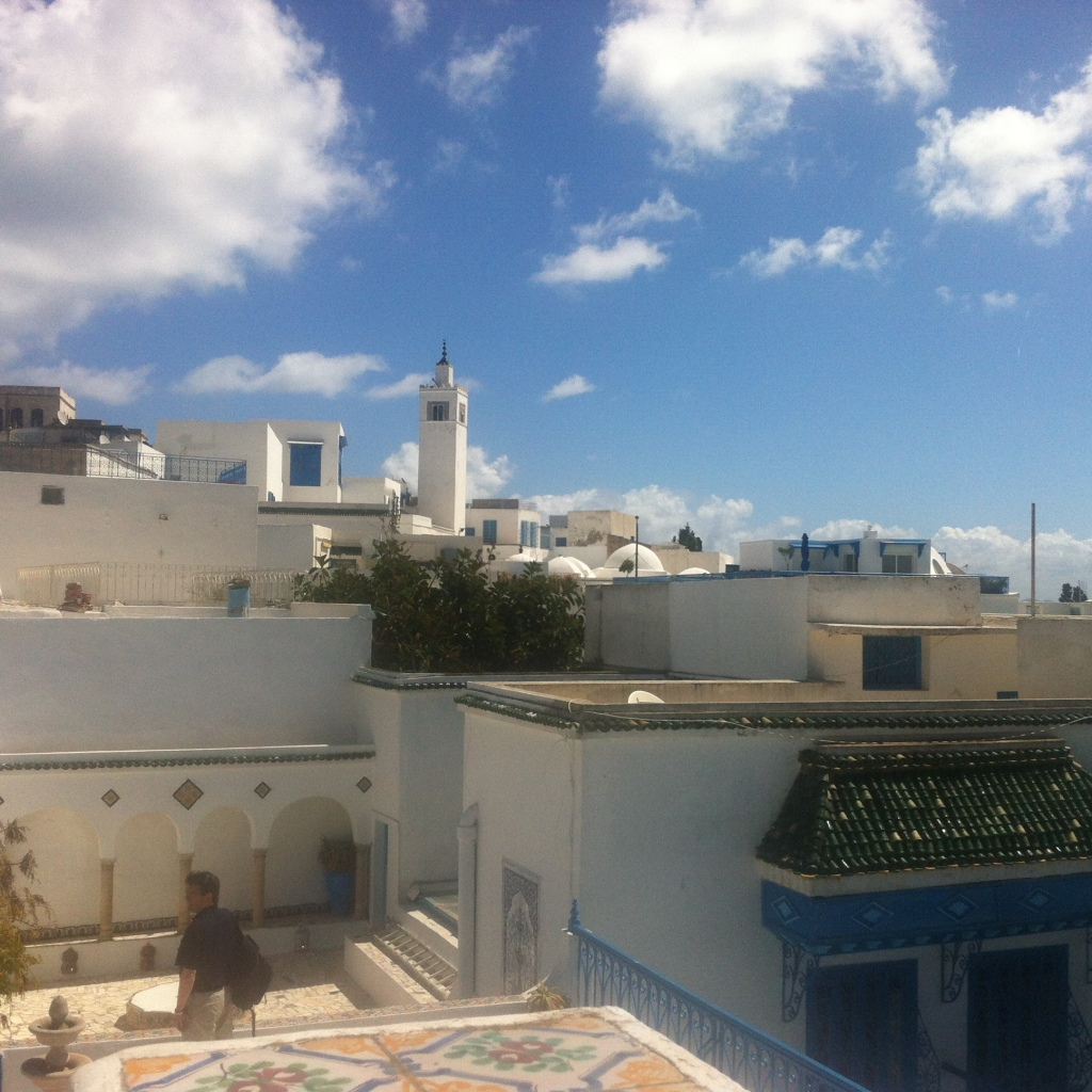 New city, every day. Loved Sibi Bou Said, the blue and white fishing village of Tunis