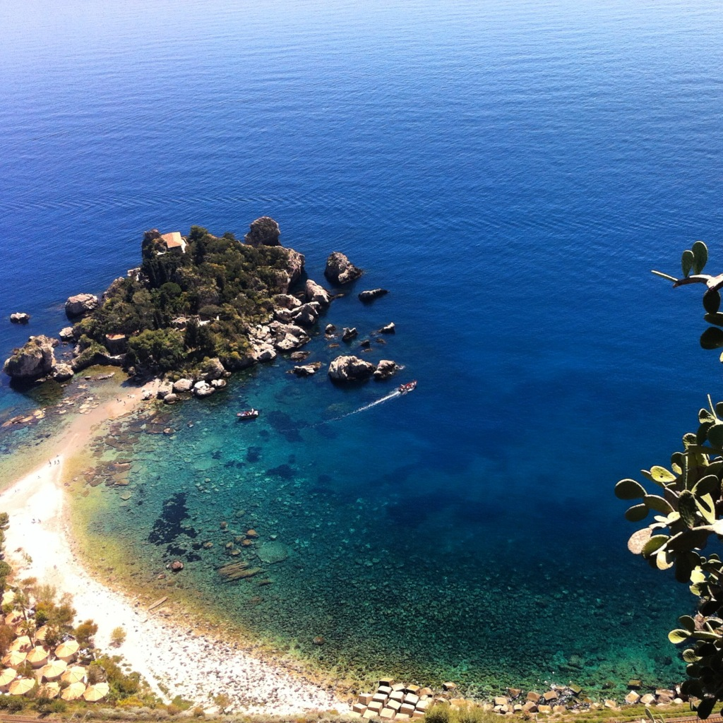 Highlights of the trip: Beach and small islands of Taormina, Sicily