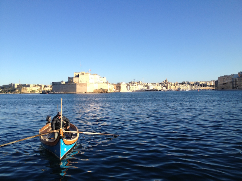 One of the highlights of my trip: Water taxi to Vittoriosa