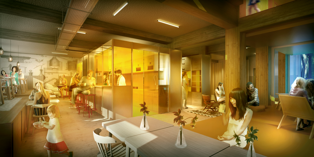 Artists design of the Clink Amsterdam Kitchen