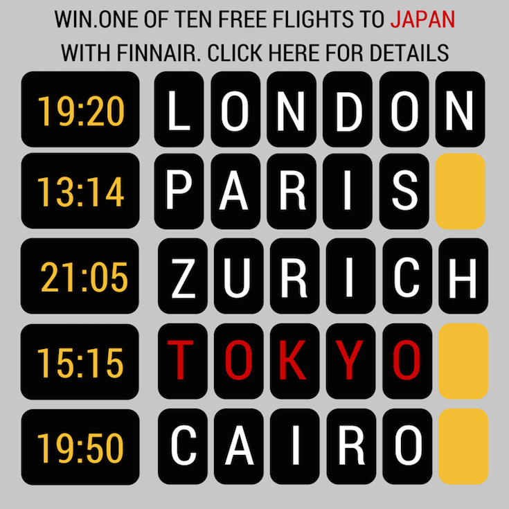 Win 1 of 10 FREE flights to Japan