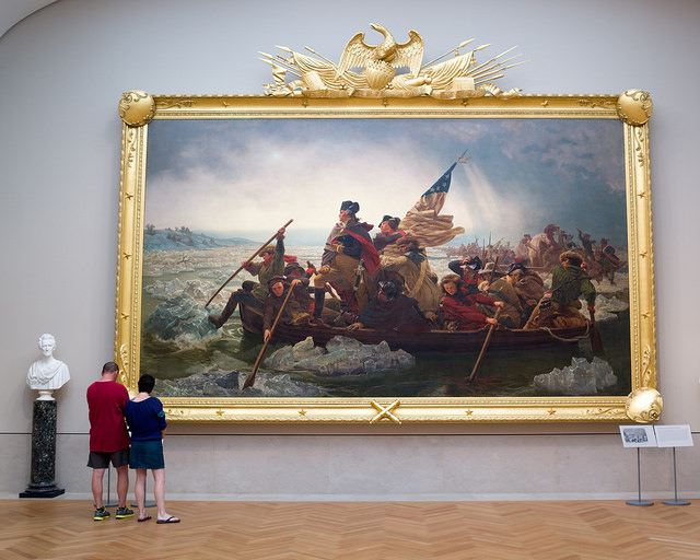 """Washington Crossing the Delaware,"" 1851 painting by Emanuel Gottlieb Leutze. Metropolitan Museum of Art. Photo by Phil Roeder and sourced via Creative Commons License"