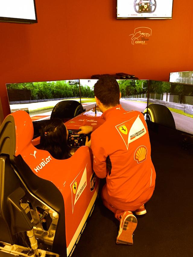 The Ferrari simulator