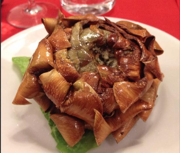 Carciofo alla Giudea - fried artichoke