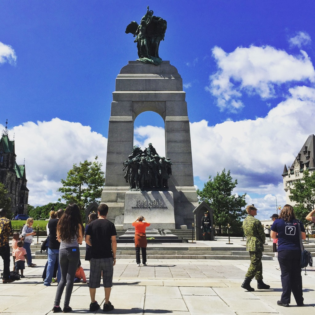 'How will you be remembered?' : National War Memorial, Ottawa