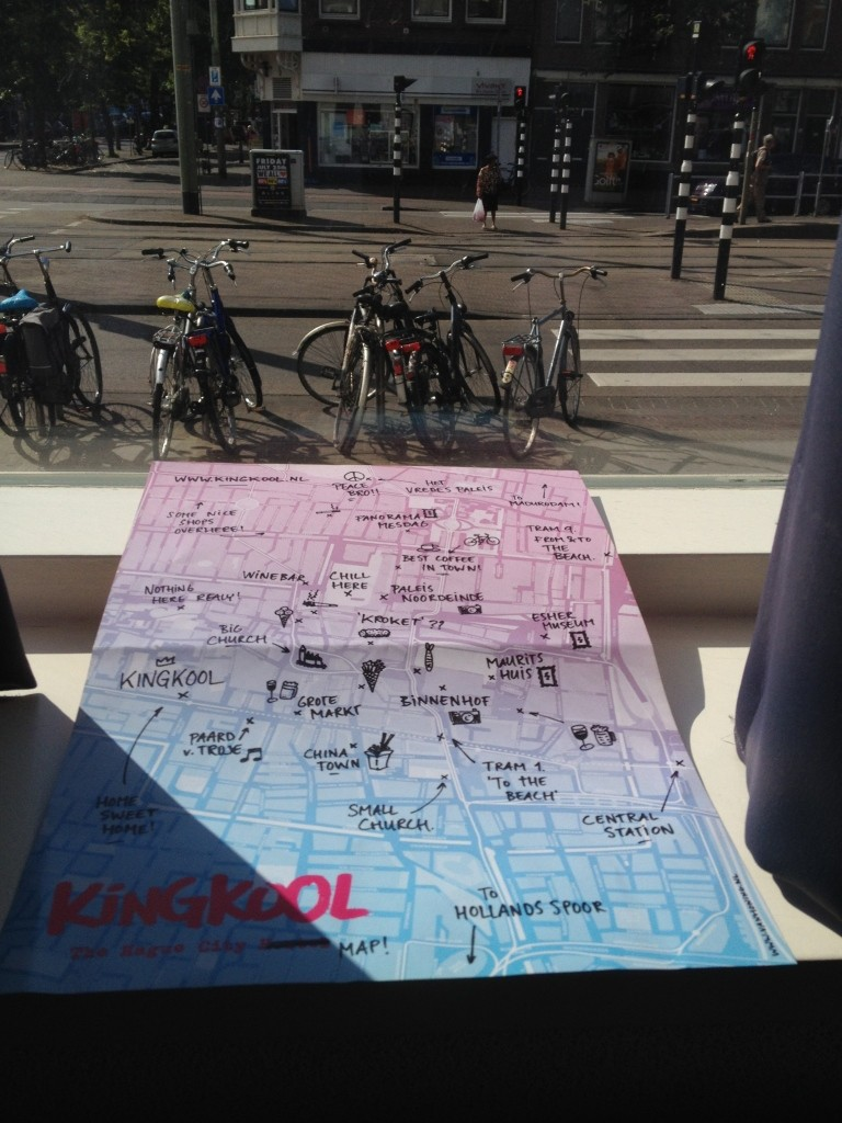 Kingcool Hostel in Hague have a free map which lists all the staff's personal favourite places to eat and stay in