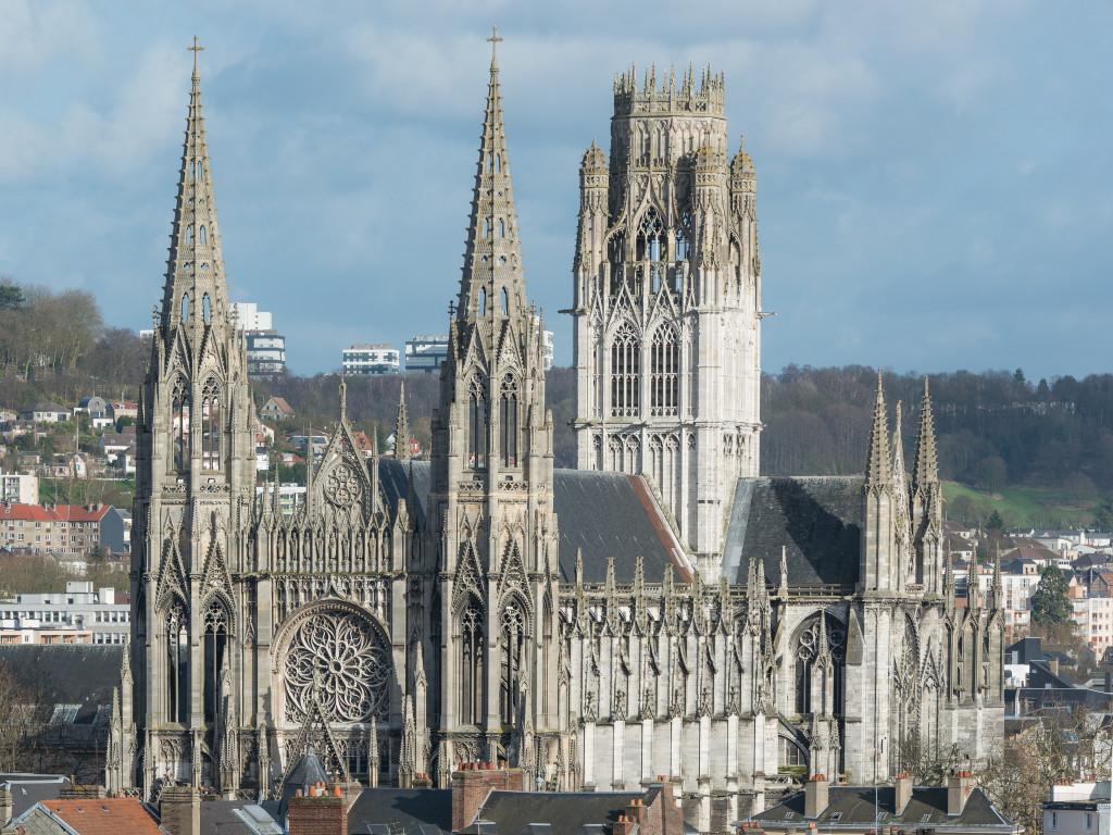 Abbaye Saint-Ouen de Rouen as seen from Gros Horloge