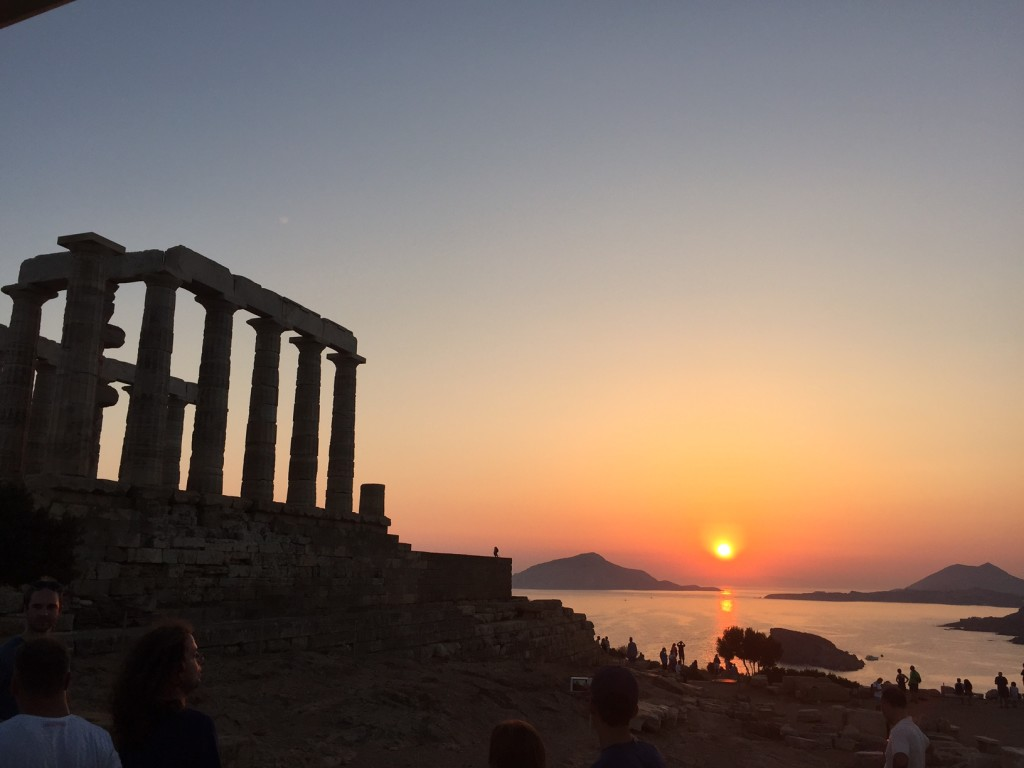 Temple of Poseidon for sunset!