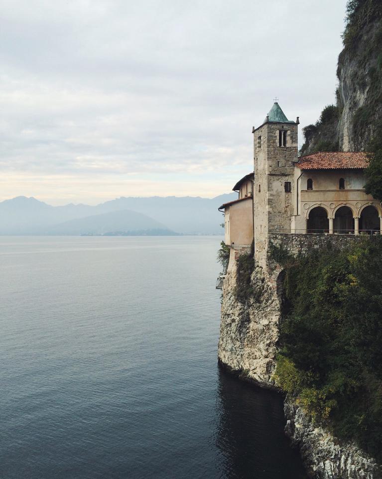 Santa Caterina del Sasso overlooking Lake Maggiore