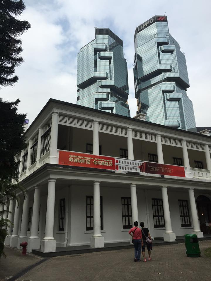Situated in Hong Kong Park, the Flagstaff House, built in 1846 is the oldest example of Western style architecture in Hong Kong. With renovations happening, the popular tea museum is currently closed but the building itself is beautiful to observe. I love the contrast of old and new especially with the magnificent buildings of Wan Chai and Central in the background.
