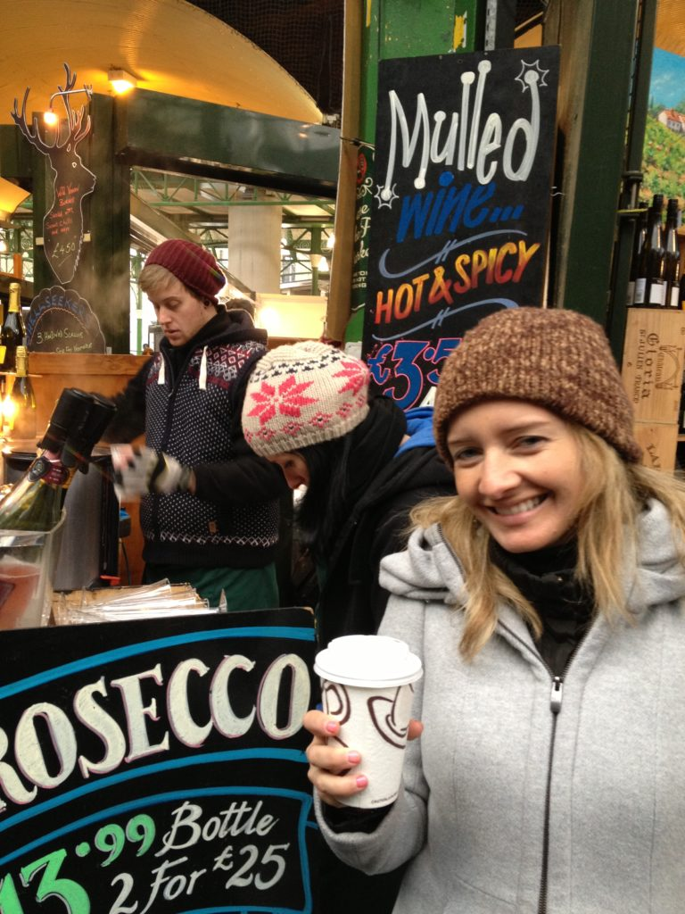 Memories of delicious mulled wine and prosecco at the Borough Market on a very cold day in November, few years back.