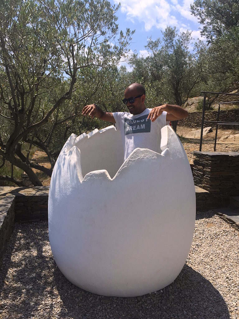 The famous egg sculptures of Dali in the backyard of his home in Port Lligat. The egg to him, a symbol of fertility and love.