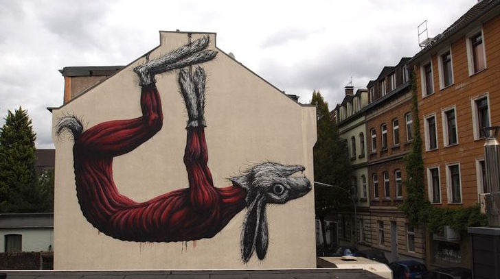 Roa's Rabbit. Ehrenfeld, Cologne