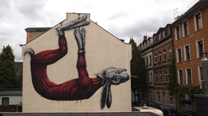 Rabbit của Roa.  Ehrenfeld, Cologne  Khám phá nghệ thuật đường phố độc đáo tại Đức ROACOLOGNE
