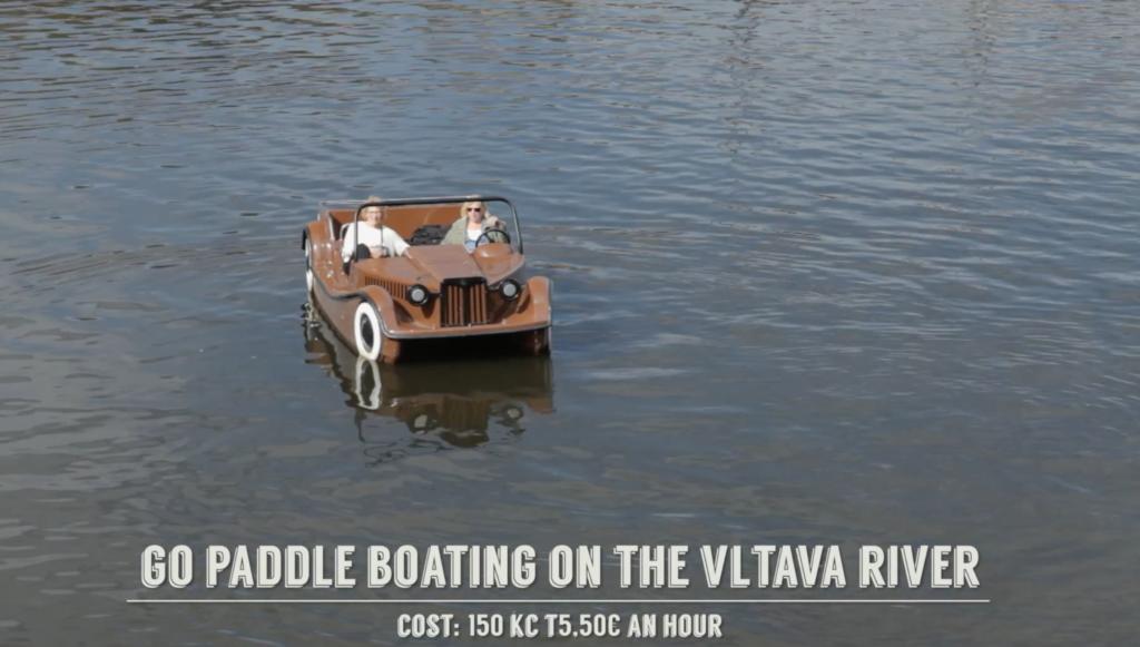 paddle boating Vltava River