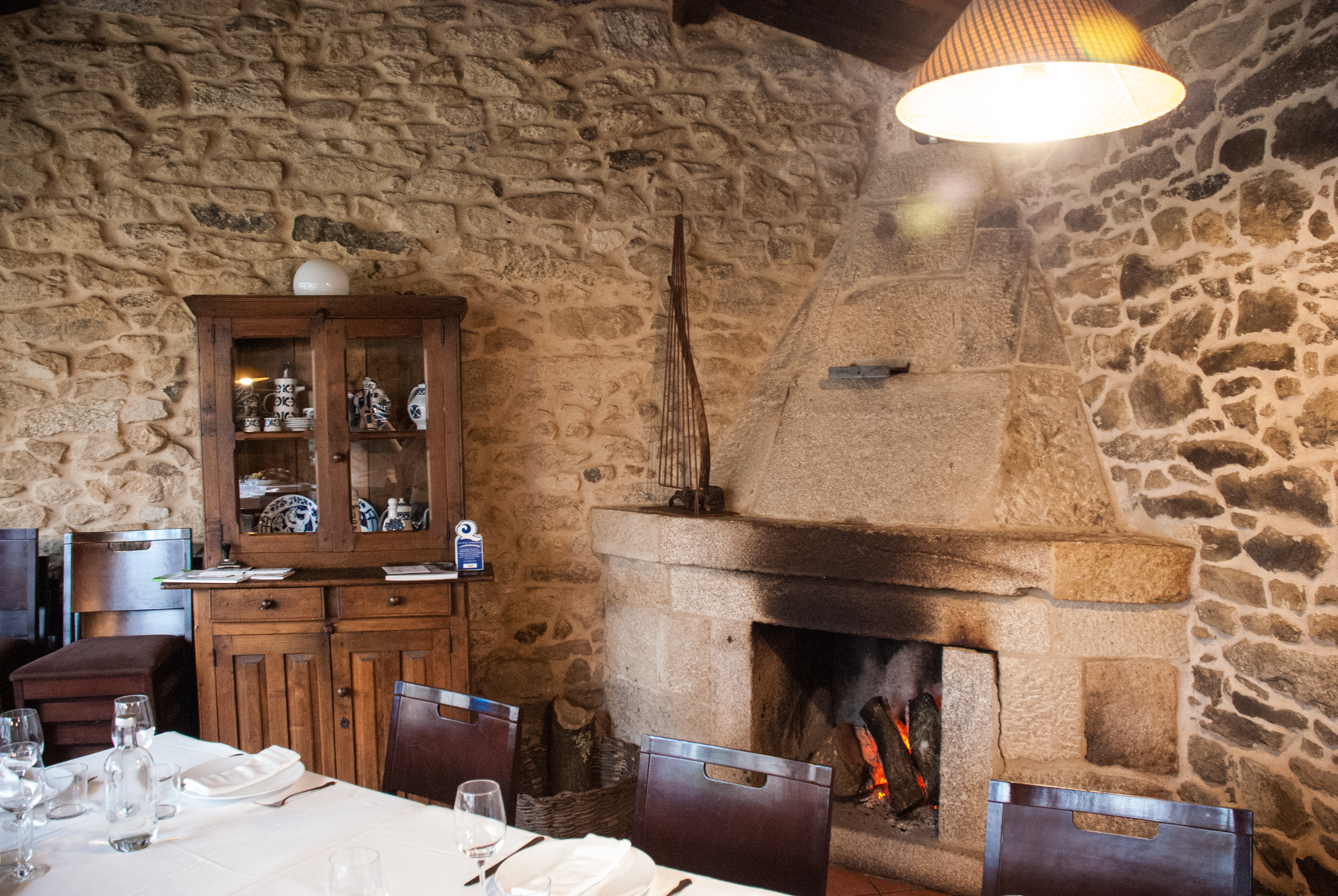 Fireplace inside A Parada das Bestas, Galicia