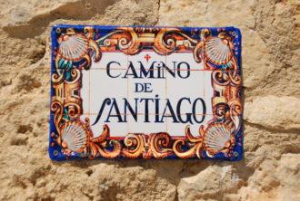 Camino de Santiago plaque