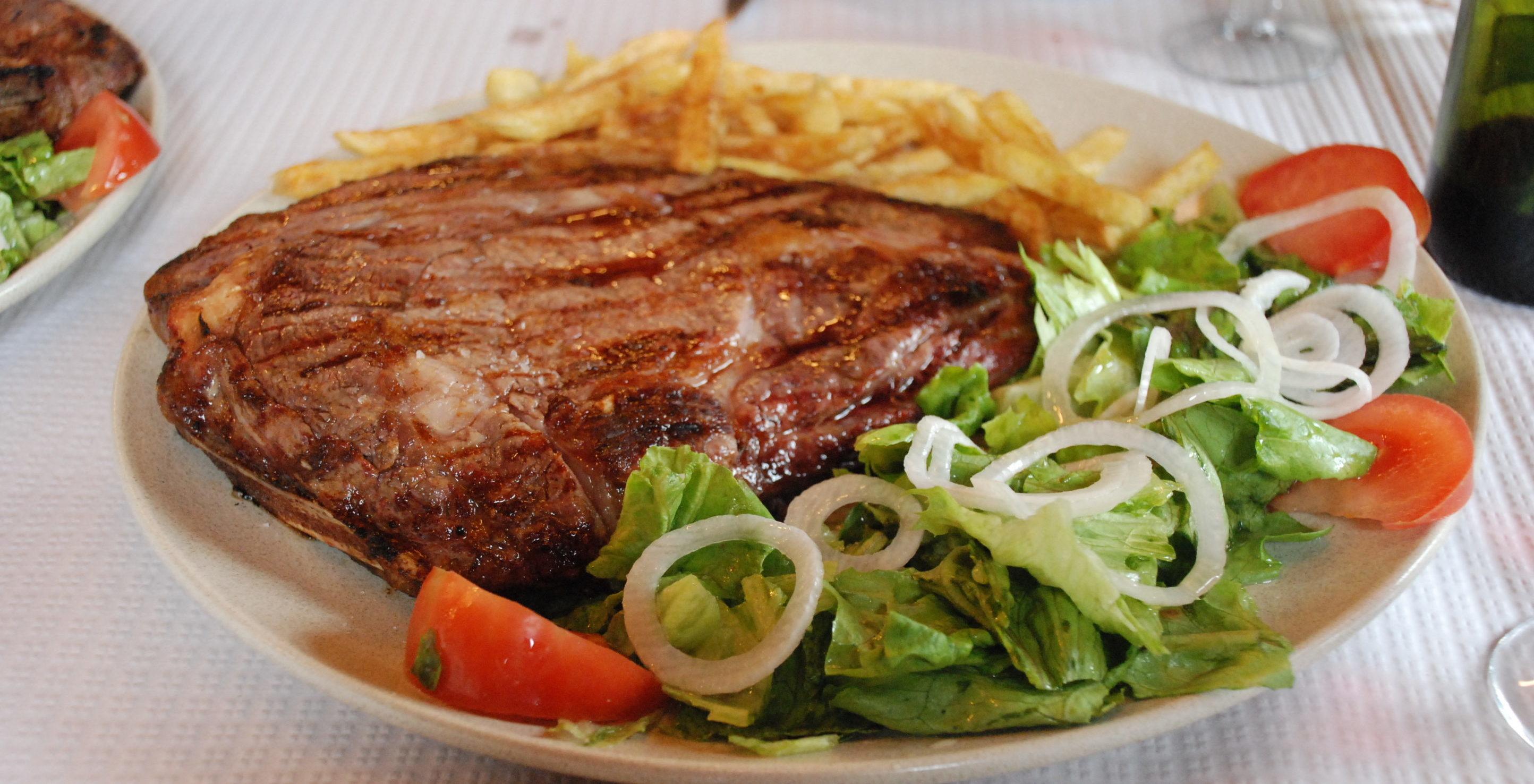 Chuleta steak big enough for 2